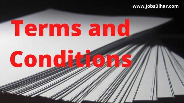 Terms and Conditions JobsBihar